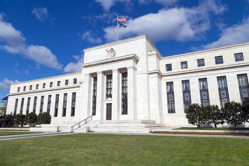 This is the Eccles Building which serves as the headquarters of the United States Federal Reserve.