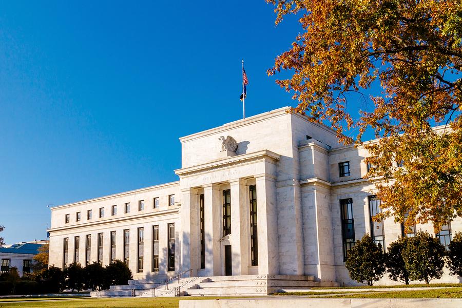 Federal reserve building Washington DC. USA. Financial concept.